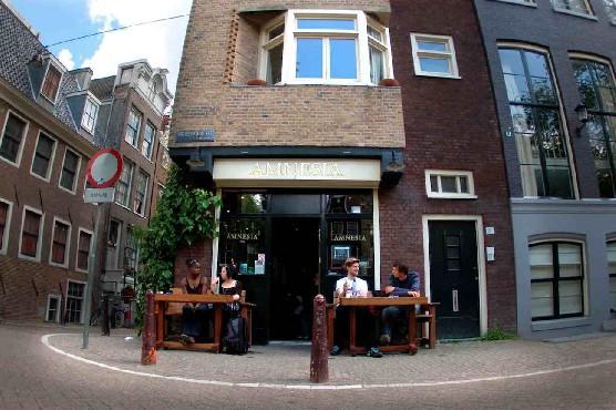 Amsterdam's coffeeshop Amnesia