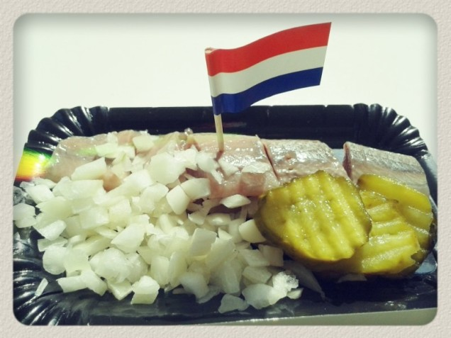 One of the typical Dutch treats, the herring