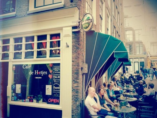 Amsterdam's Cafe de Hartjes in the Red Light District