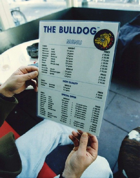 bulldog menu coffeeshop bulldog 90 in amsterdam the whole story 6201
