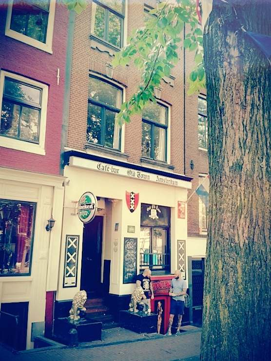 Cafe Old Town in Amsterdam's Red Light District
