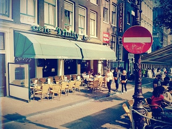 Cafe Trinity in Amsterdam's Red Light District