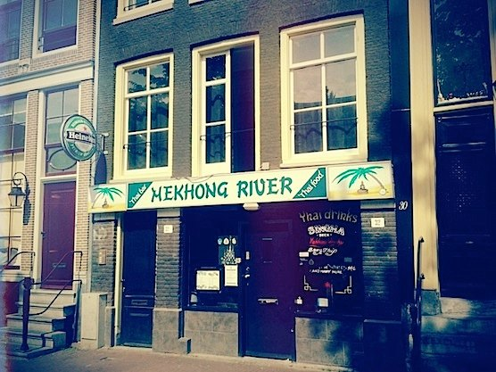 Thai Restaurant Mekhong River in Amsterdam's Red Light District