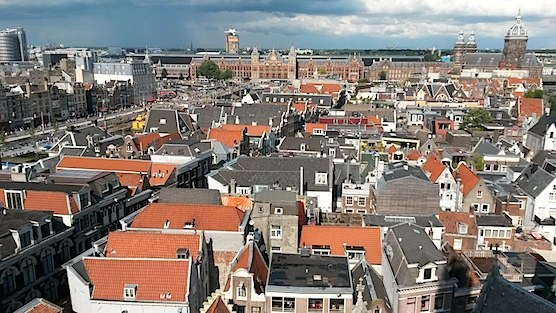 The view from The Old Church Tower in Amsterdam