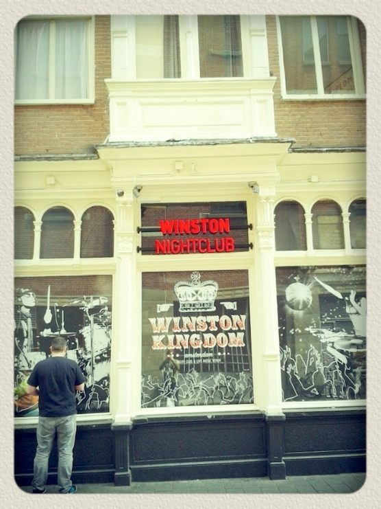Club Winston in the Red Light District of Amsterdam.