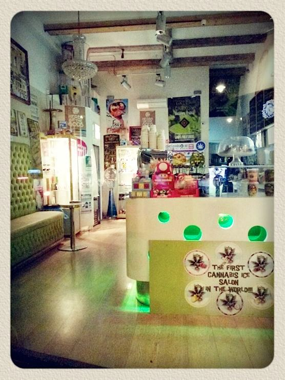 Green Energy Store in Amsterdam. The first cannabis ice salon in the world.