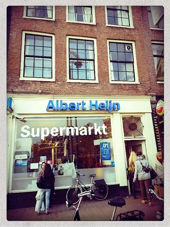 Supermarket Albert Heijn in Amsterdam's Red Light District.