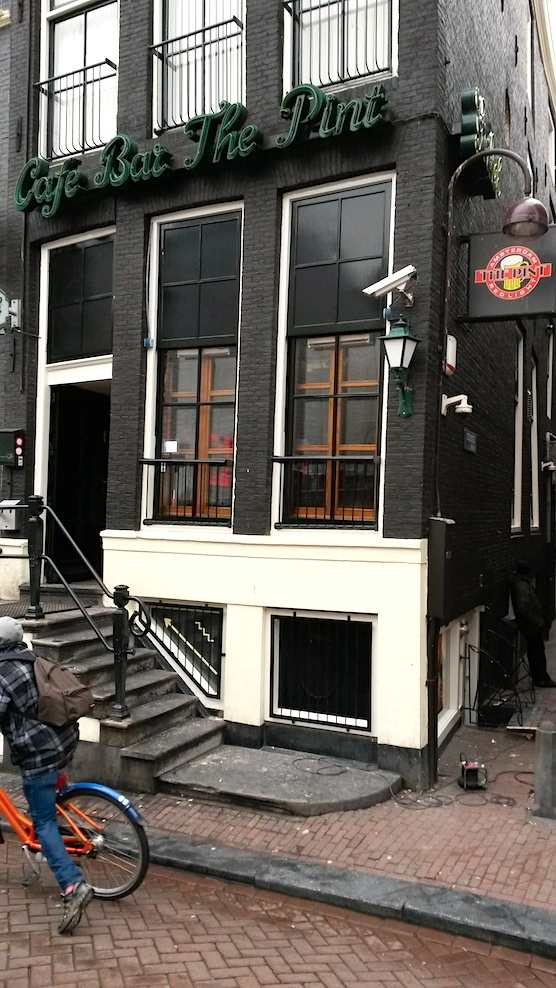 Cafe Bar The Pint in Amsterdam Red Light District.