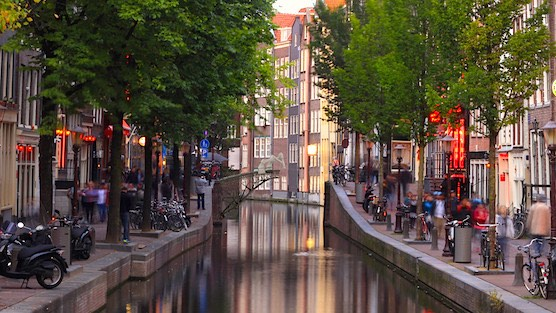 3D printed bridge in Amsterdam Red Light District