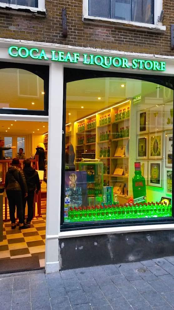 Coca Leaf Liquor Store in Amsterdam Red Light District