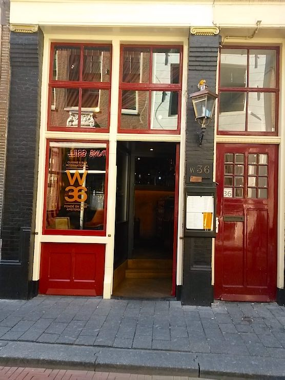 Restaurant W36 in the Red Light District of Amsterdam