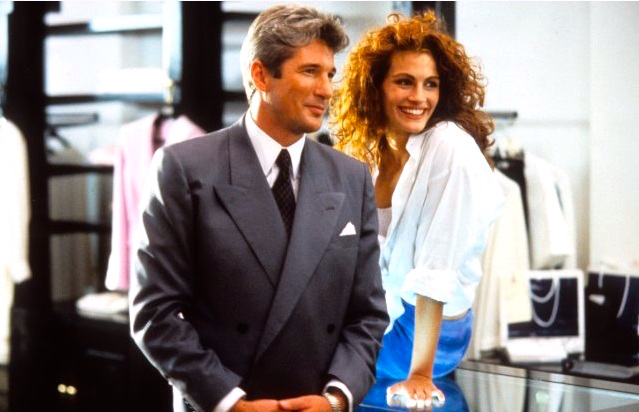 Julia Roberts plays prostitute in Pretty Woman