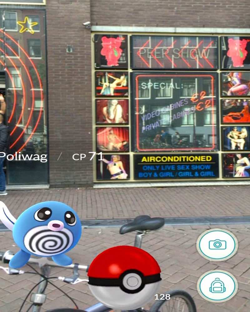 Pokemon in Amsterdam Red Light District