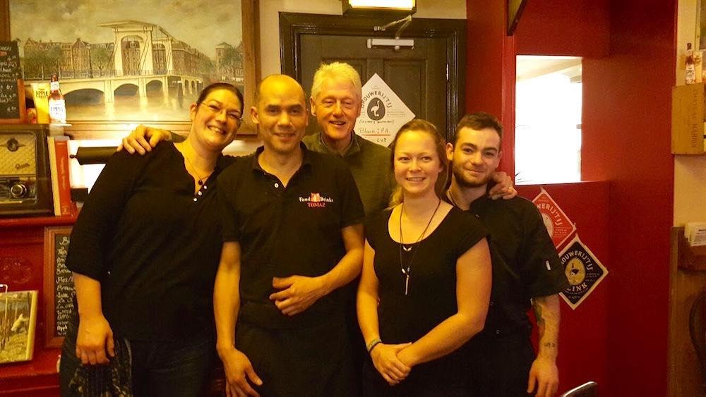 Amsterdam Restaurant Tomaz Bill Clinton