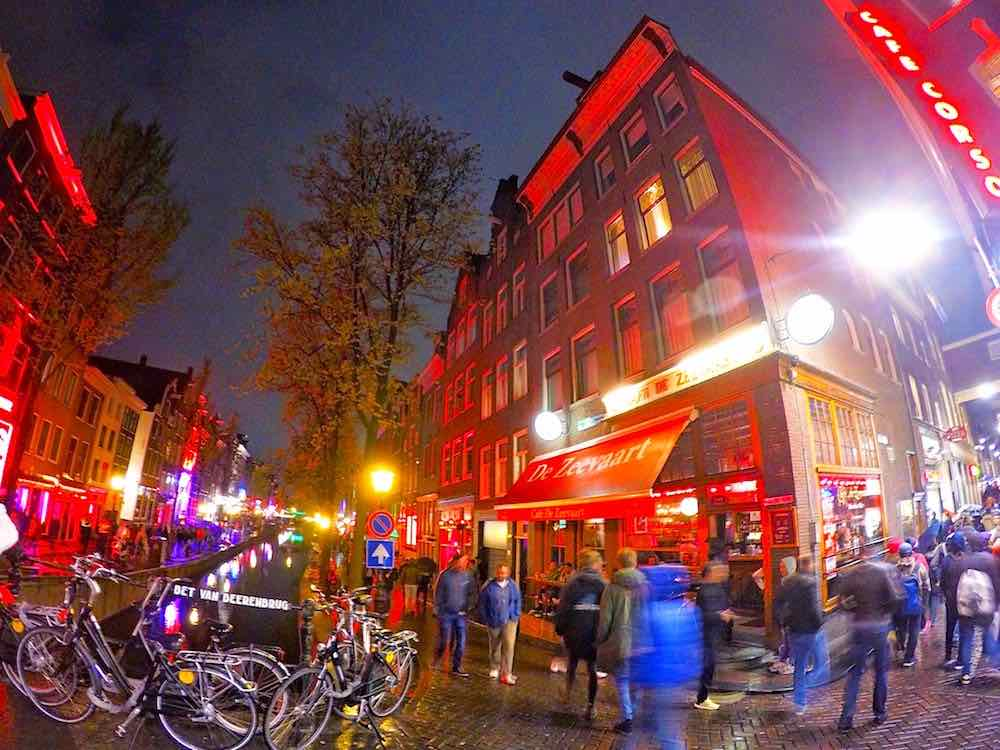 Amsterdam Red Light District Pedestrian Friendly