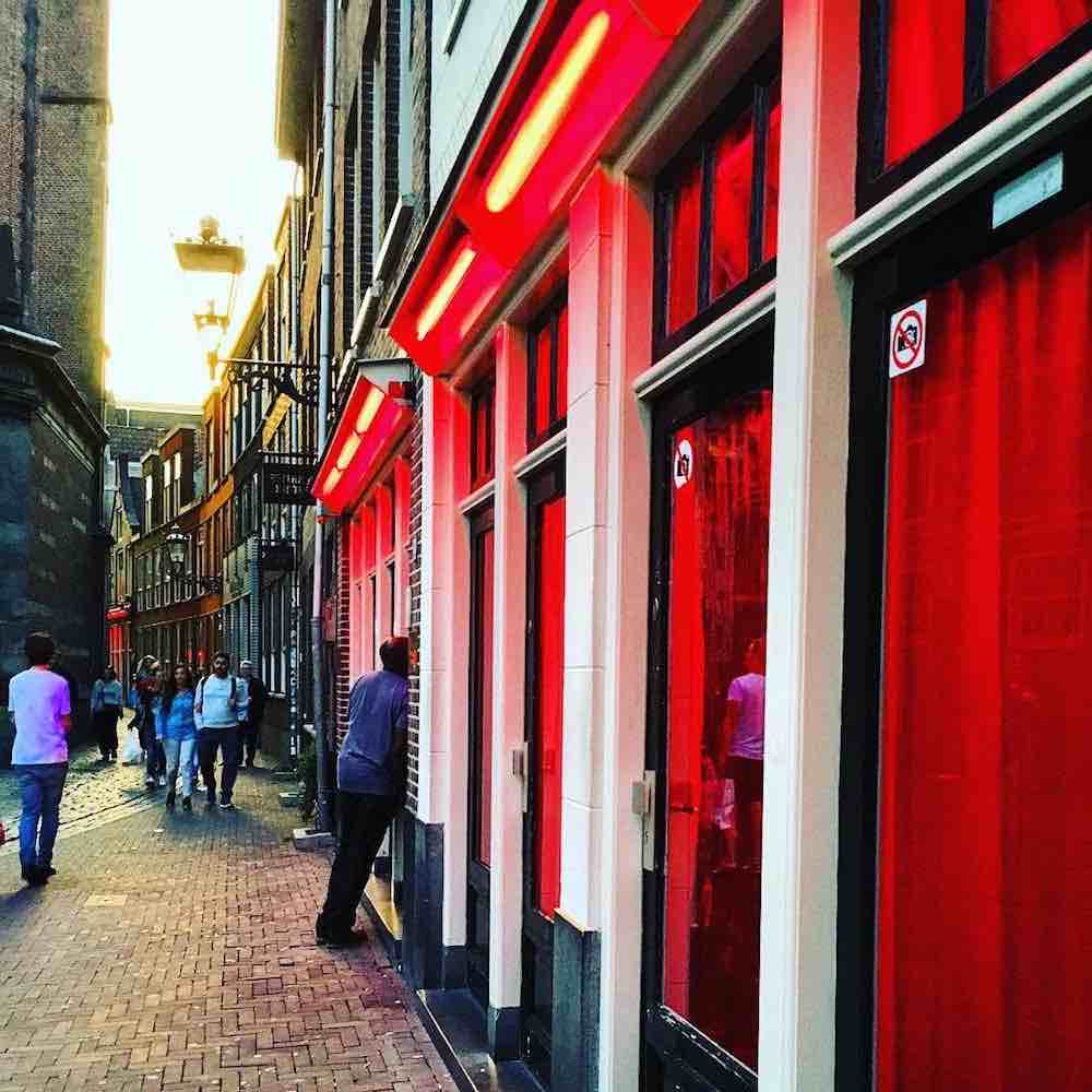 sex light Amsterdam red