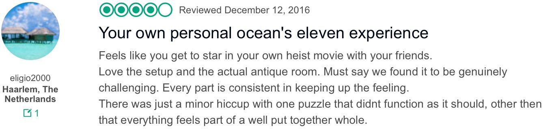 TripAdvisor Amsterdam Red Light District Escape Room reviews